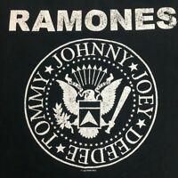 Vtg 90's Ramones T-Shirt Hey Ho Let's Go Punk Rock Band Tour Concert Tee Size L