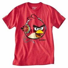 Men's Angry Birds Graphic Tee T-Shirt Short Sleeve Tagless Red L XL NWT!