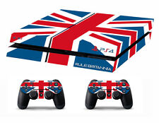 PS4 vinyl Skin Stickers union jack style for Console & 2 controllers