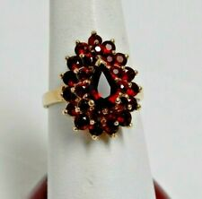 Vintage Ruby Cluster Ring 10K Gold Ring Size 7 EUC