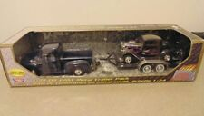 MOTORMAX FORD PICKUP AND FORD COUPE 1:24 DIE CAST METAL TRAILER PACK