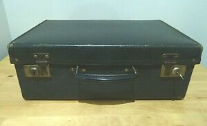 Small Vintage Blue Suitcase 1950s with Key