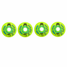 Rink Rat Wheels 76mm 84A Trickster X Grn/Blue 4-Pack Inline Indoor Roller Hockey