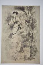 Vintage Renoir 'La Promenade' Print. Penn Prints
