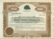 TWO HOTEL OAKS COMPANY CHICO CALIFORNIA STOCK CERTIFICATE