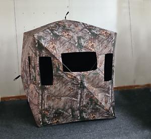 Menimal 3 Man Hunting Hub Blind, Camouflage for Shooting & Wildlife Photography