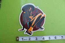 Sexy Latina Gun CowGirl in Heels ALMERA Pop Art Car Racing Surfing Skate STICKER