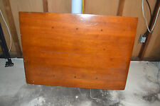 Antique Wood Kitchen Table Expandable on Two Sides