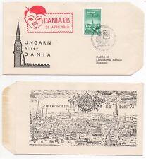 1968 HUNGARY Philatelic Cover DANIA '68 EXHIBITION Budapest - Copenhagen Denmark