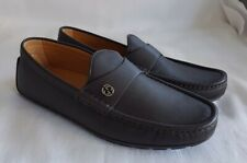GUCCI NEW MEN'S INTERLOCKING GG LEATHER LOAFERS SHOES UK 5 - 5.5 / EUR 39 - 39.5