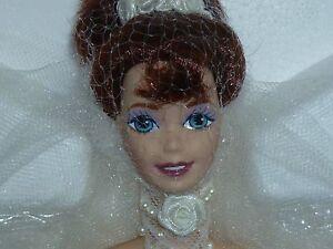 Mattel Romantic Rose Porcelain Barbie ~ In Original Box & Shipper ~ Mint ~ NRFB