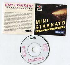 MINI STAKKATO 3-INCH cd-maxi 1996 Hörproben KLANGCOLLAGEN Promo-CD ultrarare