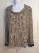 Zara Basic  Pull On Top US Size Small Pattern Soft Roll Neck Long Sleeve Top
