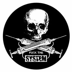 Fuck The System - New Vision Vinyl-Aufkleber Sticker für Auto wetterfest 10cm