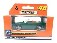 Matchbox MBX Superfast 1999 No 40 Mercedes Benz 500 SL Cabrio green German issue