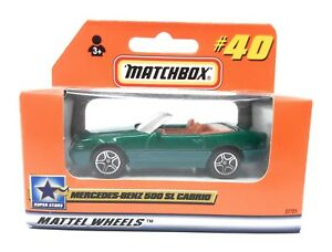 Matchbox MBX Superfast 1999 No 40 Mercedes Benz 500 SL Cabrio green German issue