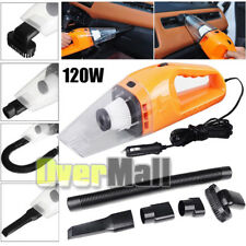 12V 120W Portable Wet & Dry Car Vehicle Mini Handheld Vacuum Dirt Cleaner Orange