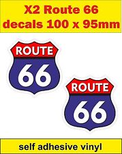 2 fun stickers route 66 decals Pannier bike car mini cart Scooter vw