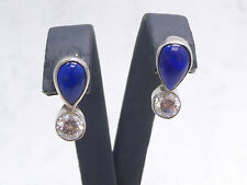 Ohrringe 925 Sterling SILBER Zirkonia Lapislazuli argent argento earrings