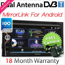 "6.75"" Double 2 DIN Car DVD GPS Player Digital TV DVB-T MPEG-4 Radio Sat Nav TU"