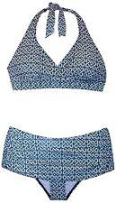 NWT Maternity Swimsuit 2 Piece Halter Swim Skirt Bikini Skirtini Bathing Suit S