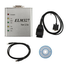 Latest ELM327 V1.5 Aluminum USB OBD2 II Auto Diagnosegerät Code Reader Scanner