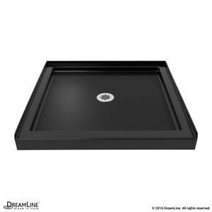 Single Threshold Shower Base 36 x 36. Center drain. Black