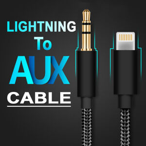 8 Pin to 3.5mm Male Jack Audio Aux Auxiliary Cable Cord for iPhone 12 Pro Max 8