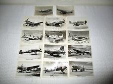 Vintage Edgar Deigan Aviation Photos - Ww2 German & American Aircraft 14 Pcs.