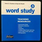 3rd Grade - WORD STUDY Lessons - TEACHING RESOURCES  (2004, Fountas & Pinnell)