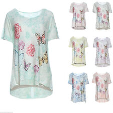 Boat Neck Floral Other Women's Tops