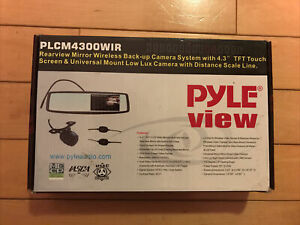 Pyle PLCM4300WIR  Rear View Mirror Back-Up Camera and Monitor New