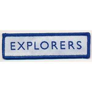 Explorer Scouts Logo Woven Badge. OFFICIAL SUPPLIER.