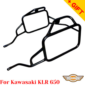 For Kawasaki KLR 650 side carrier  KL-650A pannier rack KLR650 (1987-2018), Gift