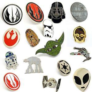Star Wars Enamel Pin Badge, Chewbacca R2-D2 Insignia Fighter Darth Vader Jedi UK