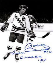 Bobby Hull signed Team Canada Vintage B&W 8x10 Photo #16 Team Canada 74