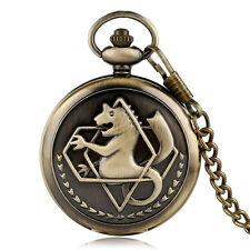 Fullmetal Alchemist Pocket Watch Mens Cosplay Bronze Steampunk Pendant Vintage