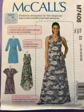 McCall's Pattern M7406 womens dress various lengths LEARN TO SEW  size 14-22