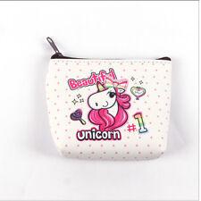 Women Girl Mini Unicorn Coin Purse Wallet Card Holder Earphone Package Bags US