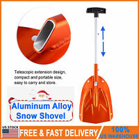 Aluminum Alloy Snow Shovel Detachable Telescopic 26.5 Inch Winter Outdoor Tool
