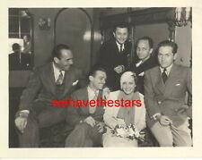 VINTAGE Joan Crawford William Haines Doug Fairbanks Jr. 30s CANDID Pub Portrait