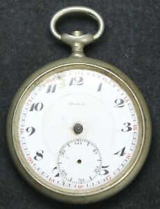 Doxa Medaille D'Or Milan 1906 51mm Pocket Watch w/ OF Case - Parts/Repair