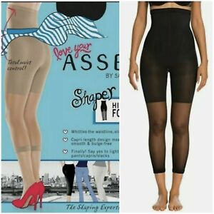 SPANX Love Your Assets High Waist Footless Shaper, Black, Size 1,Anty Cellulite