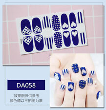 Nail Art Transfers Self Adhesive Decal Foil Sticker Tip Wrap Manicure Glitter UK