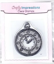 POCKET WATCH - Mini Clear Stamp - Crafty Impressions