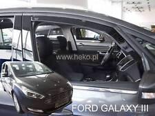 Ford Galaxy III 5 door 2015-up Front wind deflectors 2pc set TINTED HEKO
