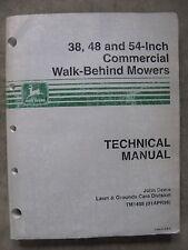 John Deere 38 48 54 inch Walk Behind Mower Technical Repair manual TM1488