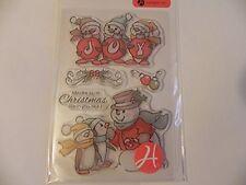 Ai Art Impressions Clear Stamps - Joy Penguins SC0716  #1320