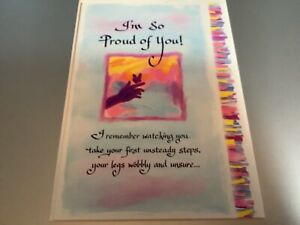 Blue Mountain card Emotional sentimental words Proud of You