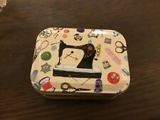 Louise Cunningham small sewing box 10.5x8x4cms